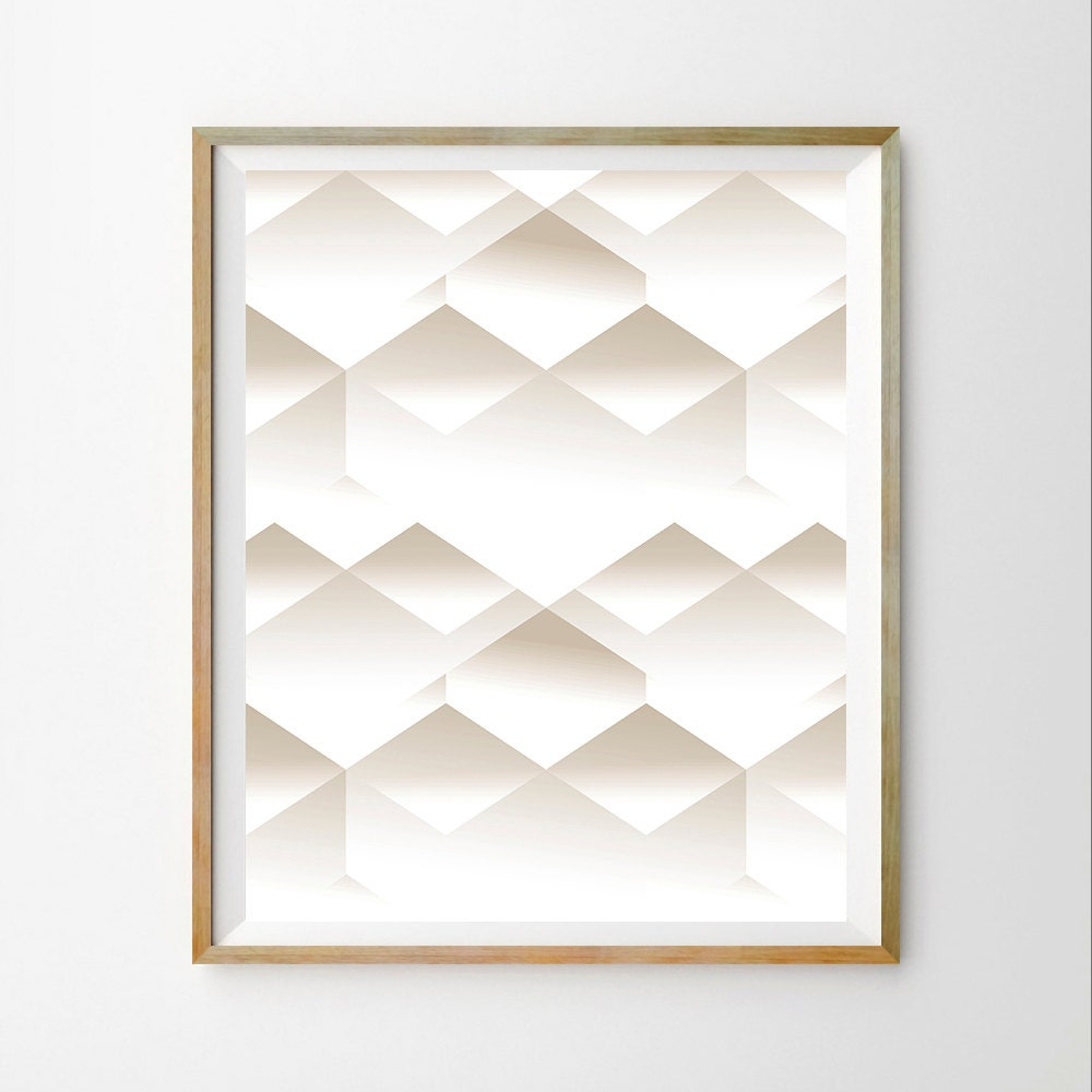 Geometric wall art print white modern print white wall art for White wall decor