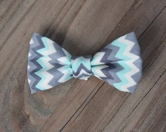 Chevron Bowtie or Hair Bow for Infants, Children, or Adults