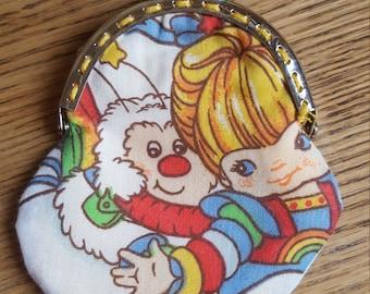 Retro Rainbow Brite coin purse