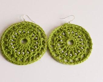 Beaded Amazon Treasure hoop earrings