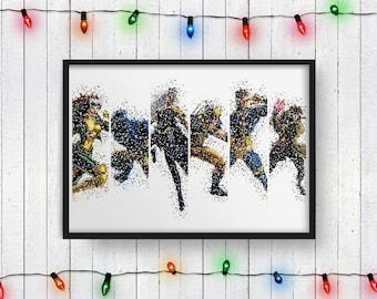 X-MEN POSTER, X-Men Print, Wolverine, Storm, Cyclops, Rogue, Beast, Gambit, Print, Art, Wall Art, Digital Print