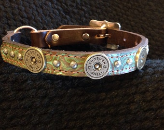 Dog collar with western bling