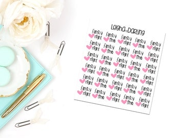 Family Night/Family Time Planner Stickers