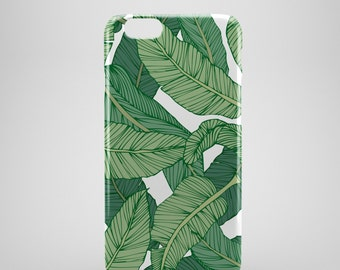 Banana Leaf Print iPhone 6 Case, iPhone 6 Plus Case, iPhone 5 Case, iPhone 5S Case, iPhone 5C Case, iPhone SE Case,  iPhone 6s case