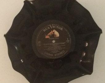 Repurposed Vinyl Record Bowl Polka Special