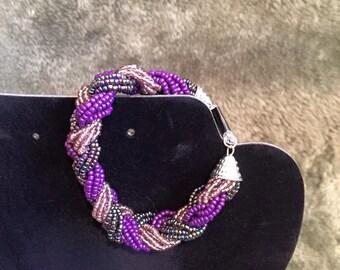 "Item #127: ""Braided Beads"" (Purple)"