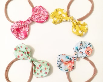Fabric bow nylon delicates