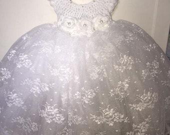 Crochet Tulle Princess Dress