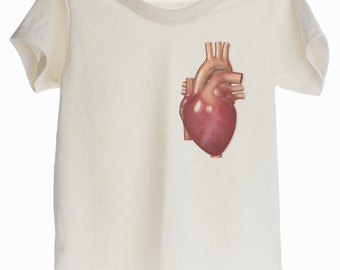 Real Heart Organic T-shirt for Kids