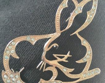 Bunny rabbit brooch