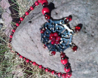 Black and Red Sparkle Web