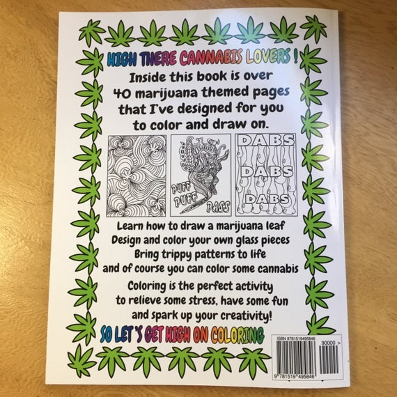 color me cannabis the marijuana themed coloring book for reefers mmj users and stoners - Cannabis Coloring Book