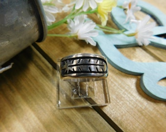 Sterling Silver Feather Band Ring