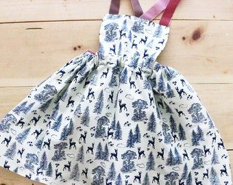 Apron Dress for Toddler Girl