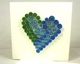 Quilling Greeting Card, Handmade Quilled Card