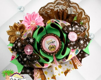 """Smart Cookie 5"""" Stacked OTT Boutique Bow by Crafty Retreat"""