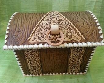 Birchbark chest jewelry box large