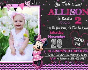 Minnie Mouse Invitation Birthday Minnie Mouse Party