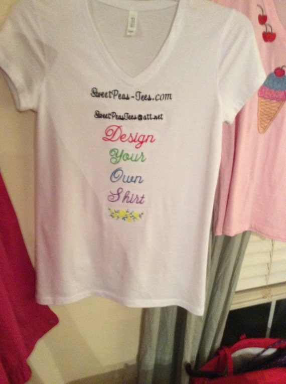 Items similar to design your own t shirt using existing for Design and buy your own shirt