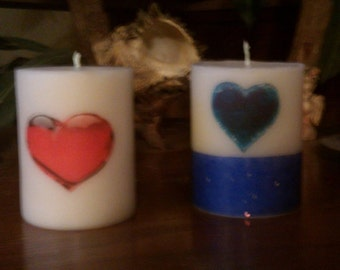 2x3 over scented picture candle (ask about scents)