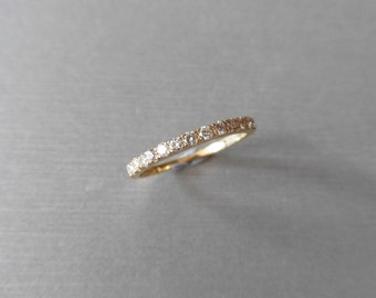 9ct Diamond band Ring