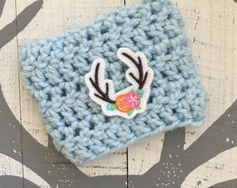 Hello Deer, Crochet Cup Cozy