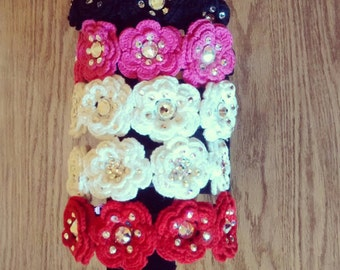 Crochet Flower Irish Dance Headband