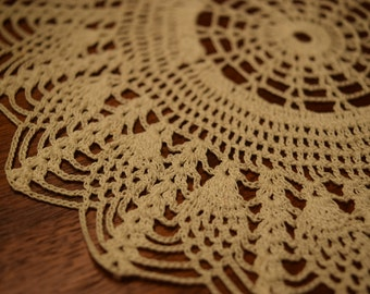 Vintage Hand-crocheted Lace Doily Set