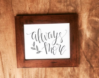 Hand Lettered Print- Always More