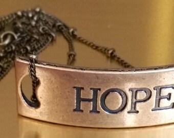 Brass Hope Necklace