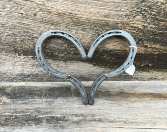 Rustic horseshoe heart; wedding heart