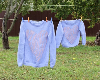 Sweater for mother and daughter