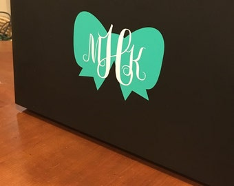 Monogram Bow Decal- for Laptops, Cars, Notebooks, and more!