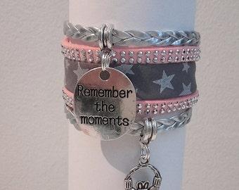 In true Liberty Rose grey Cuff Bracelet. To remember. Claddagh love friendship symbol
