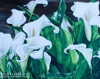 White Lilies - Giclee Print from Original Painting