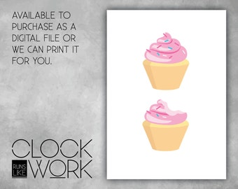 Wall Art, Prints, Home Decor, Inspirational Quotes, Nursery Prints, Printed or Digital File Available, Cupcakes