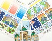 7 Australia Day themed sticker planner set. Vertical Planner only.