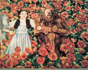 Wizard of Oz Fabric/Wizard of Oz Field of Poppies Fabric/ Sold By the Yard
