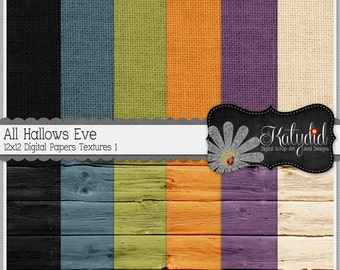 Halloween Digital Paper All Hallows Eve Digital 12x12 Holiday Textures 1 Seasonal Papers and Backgrounds for INSTANT DOWNLOAD
