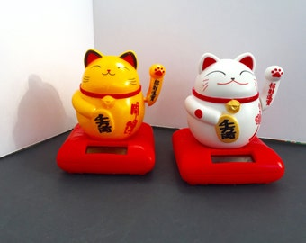 Lucky Waving Maneki Neko Fortune Cat Solar