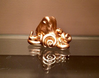 Octopus Sculpture, Goldie-Locks Octopus figurine