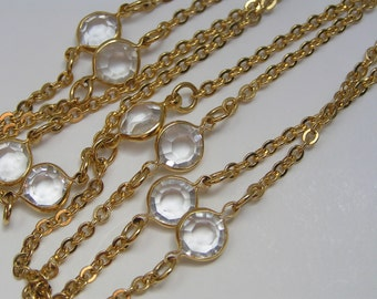 Crystal Chain  Necklace - Costume Jewelry