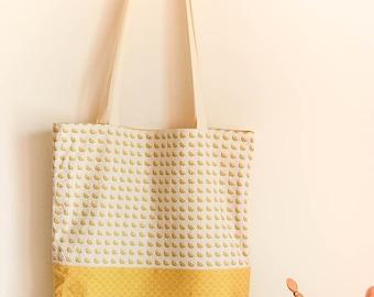 Tote bag reversible cotton lemons reasons