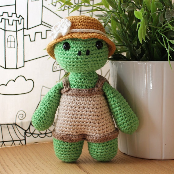 Turtle - Animalius. Amigurumi Pattern PDF, Farm Animal Toy, Zoo Nursery Doll, Crochet Pattern, Cute Children Gift, DIY, Instant download