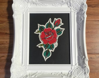 Traditional rose painting