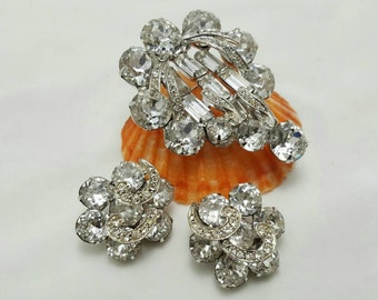 WEISS Pin And Earrings Set