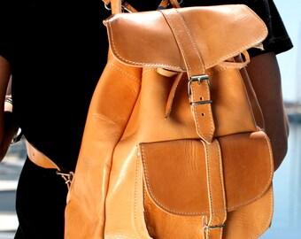 Backpack leather, Rucksack, handmade leather bag