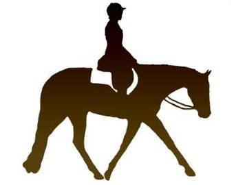 Horse & Rider Decal