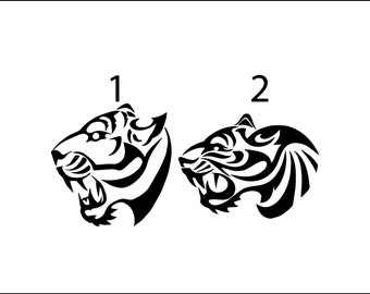 Tribal Tiger Panther Decal, Masculine Vinyl Car Decal, Yeti Decal For Guys,  Lion