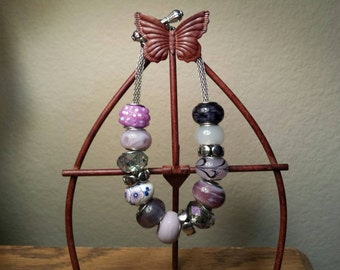 Handmade Purple Add a Charm Bracelet